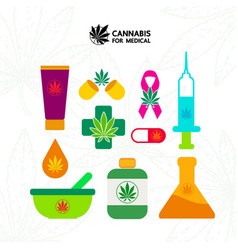 Cannabis with many benefits vector