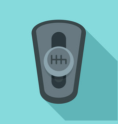 Car auto gearbox icon flat style vector