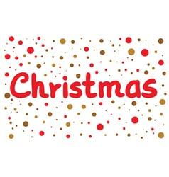 Christmas lettering with color dots vector