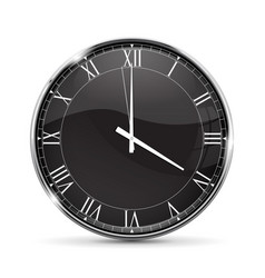 clock roman numerals vector image