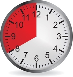 Clock with red 20 minute deadline vector image