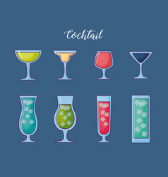 cocktails drinks design vector image