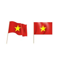 colorful naturalistic waving flag vietnam vector image