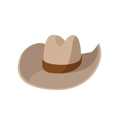 Cowboy hat cartoon icon vector