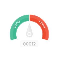 credit score vector image