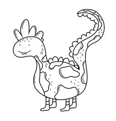 cute dinosaur character icon vector image