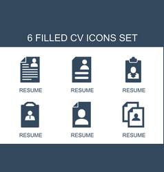 Cv icons vector