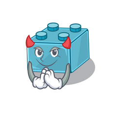Devil lego brick toys cartoon character design vector