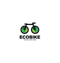 Eco bike logo template icon element vector