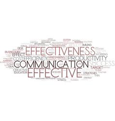 Effectiveness word cloud concept vector
