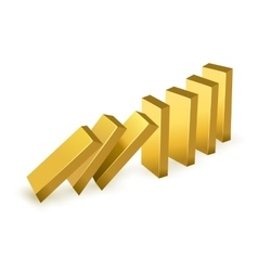 Falling gold bars vector