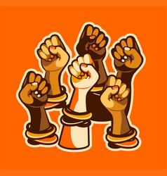 Feminism concept female power vector