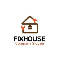 Fix house design vector