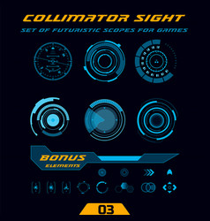 futuristic hud hi-tech weapon scopes for games vector image