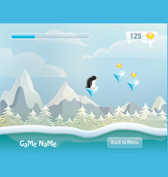 Game user interface background vector image