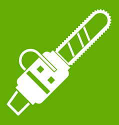 gasoline powered chainsaw icon green vector image