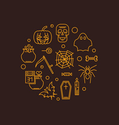 halloween outline concept creative vector image