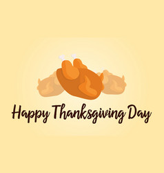 happy thanksgiving day card style vector image