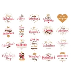 Happy Valentines day typography design vector image