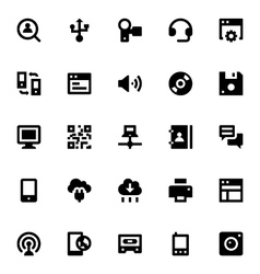 Internet Networking and Communication Icons 3 vector image
