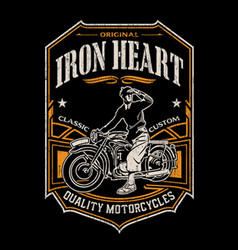 Iron heart vector