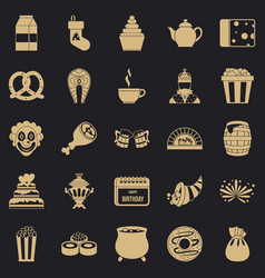 Lavishness icons set simple style vector