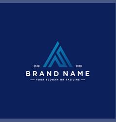 Letter af colorful logo design vector