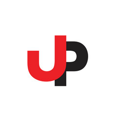 Letter jp simple logo vector