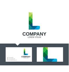 letter l - logo design vector image