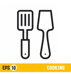 Line icon spatulas vector