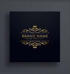 luxury vip logo concept design for your brand vector image