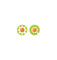 magnifying glass logo icon data vector image