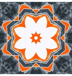 Mandala orange swadhisthana lotus flower symbol vector
