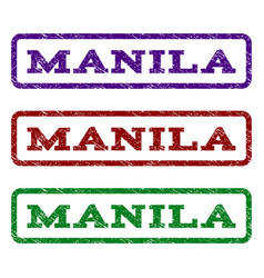 Manila watermark stamp vector