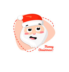 merry christmas santa claus cartoon santa claus vector image