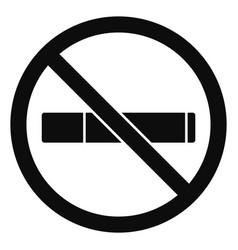 no smoking icon simple style vector image