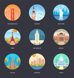 Pack of world cities 1 vector