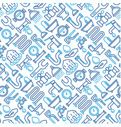Plumbing seamless pattern vector