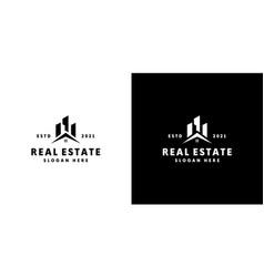 real estate building logo design vector image