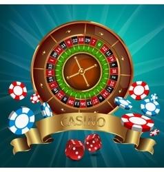 Realistic Casino Poster vector image