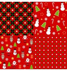 set christmas patterns vector image