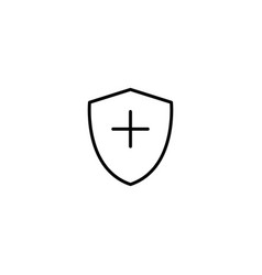 shield safety icon vector image