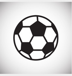 Soccer ball icon on white background for graphic vector