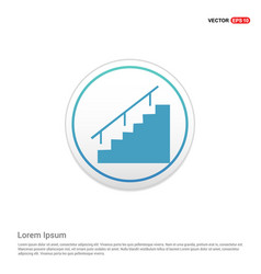 Stairs icon - white circle button vector