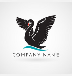 Swan logo sign emblem-22 vector
