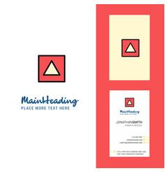 traingle shape creative logo and business card vector image