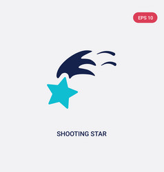 two color shooting star icon from astronomy vector image