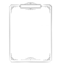 Vertical retro menu white blank background with vector