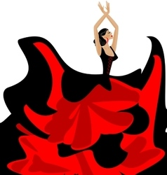 woman and flamenco dance vector image