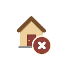 wrong house icon vector image